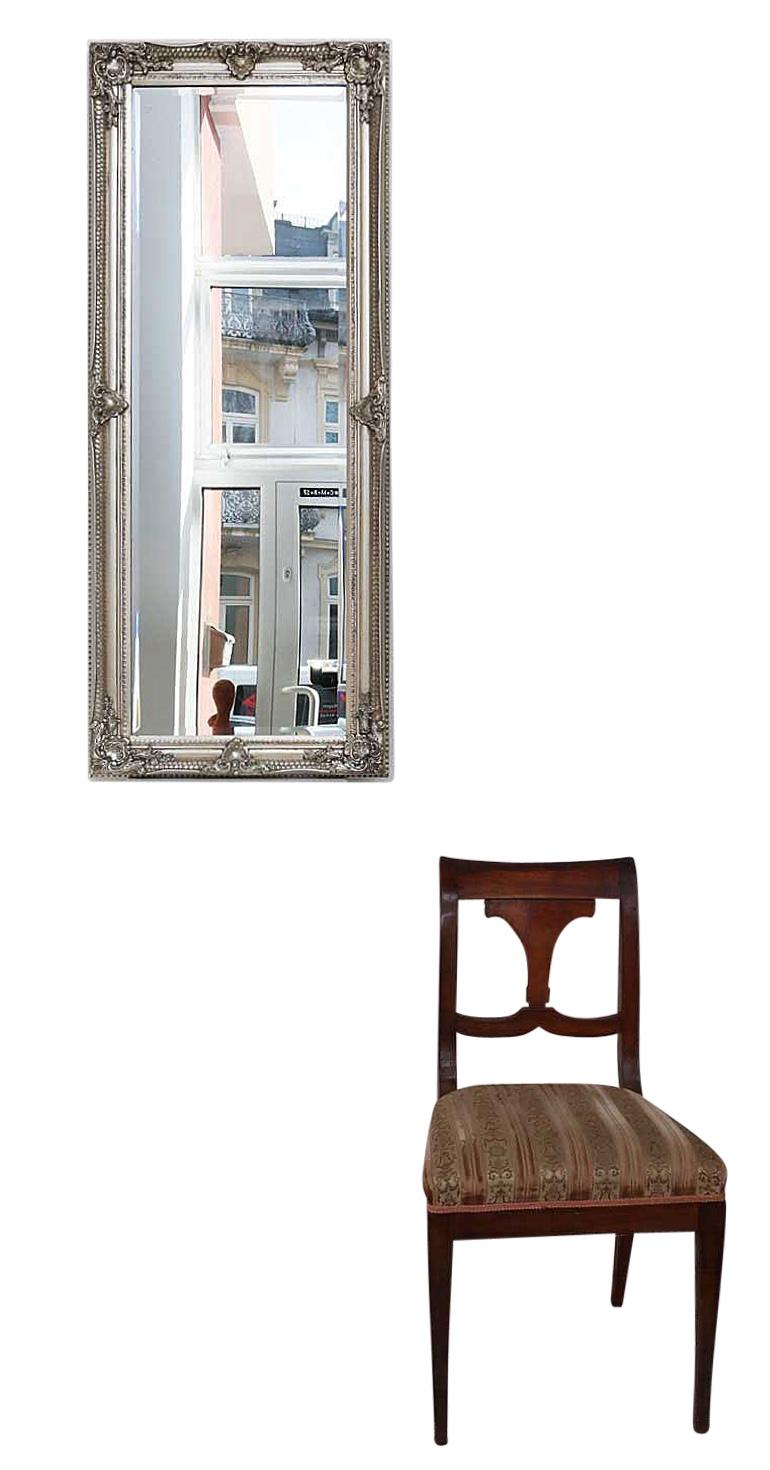 Mirror Facet Cut 54x134cm Silver Colored Pier Glass