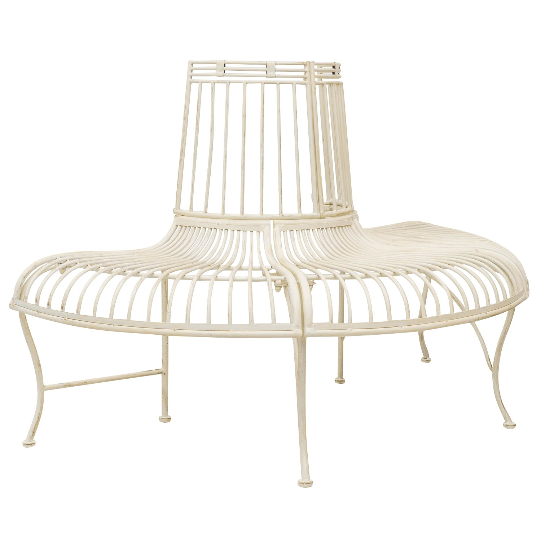Détails sur Brun l`arbre banc meubles de jardin en métal de style antique  fer mobilier 134cm