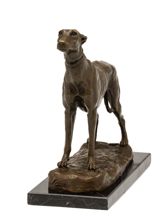 statuette de l vrier bronze socle en marbre ebay. Black Bedroom Furniture Sets. Home Design Ideas