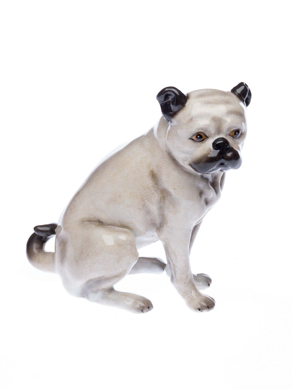 Porzellanfigur mops porzellan hund bulldoge figur skulptur for Mops dekoration