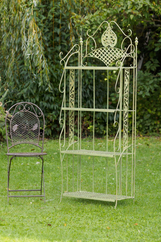 etag re de jardin fer forg 175cm style antique vert 13kg. Black Bedroom Furniture Sets. Home Design Ideas