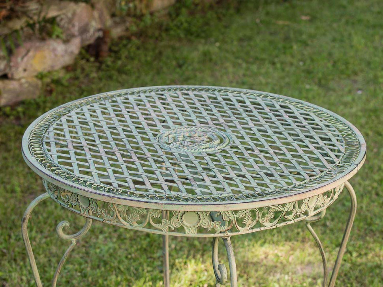 gartentisch in hellem creme gr n tisch garten eisen antik stil garden table iron ebay. Black Bedroom Furniture Sets. Home Design Ideas
