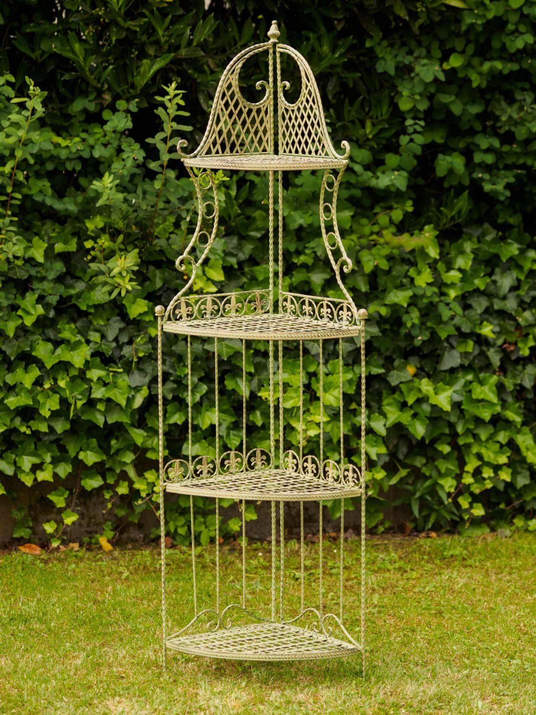 Estanteria estanteria hierro jard n estanteria verde 165cm - Estanterias de jardin ...