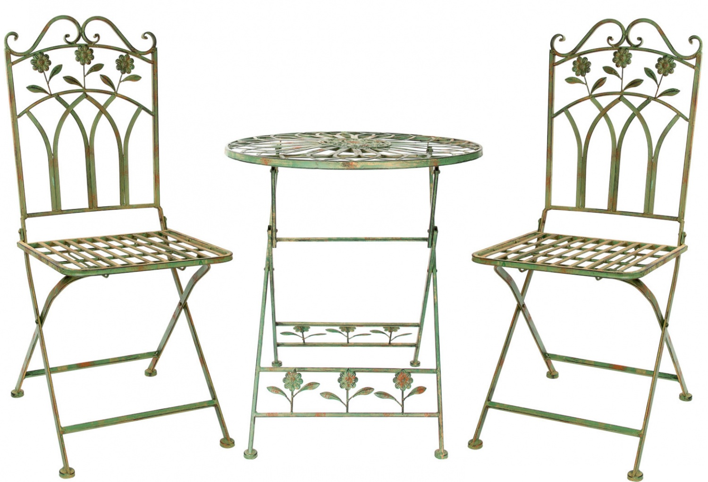 Détails sur Set jardin en fer mobilier de jardin vert jardin de style  antique