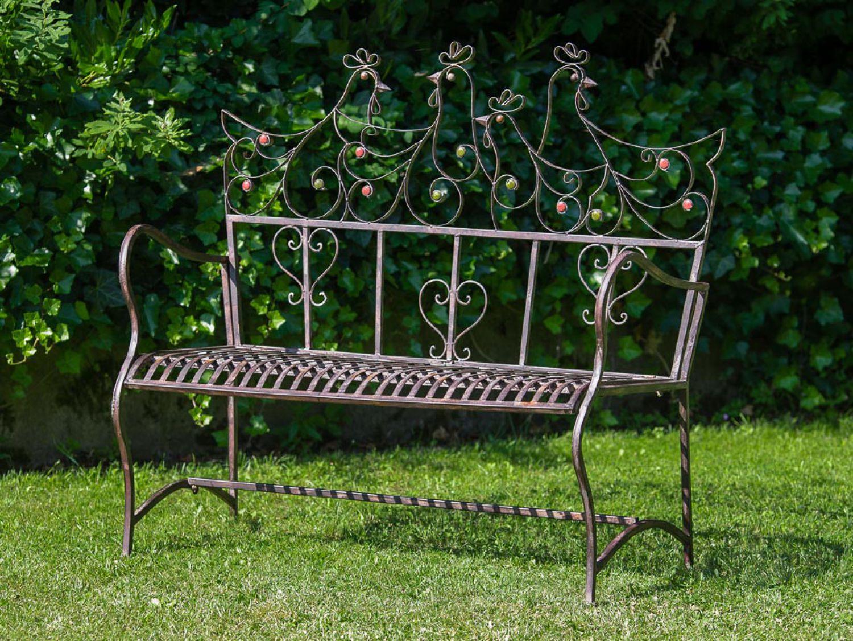nostalgische gartenbank metall bank sitzbank antik stil. Black Bedroom Furniture Sets. Home Design Ideas