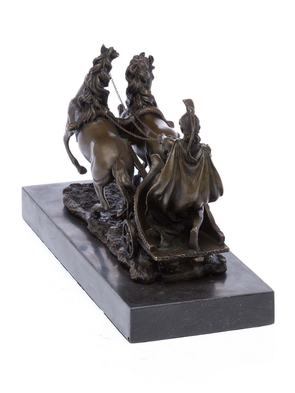 Bronzeskulptur Römer im Streitwagen Reiter Bronze Figur Skulptur 31cm sculpture Bronze Antiques
