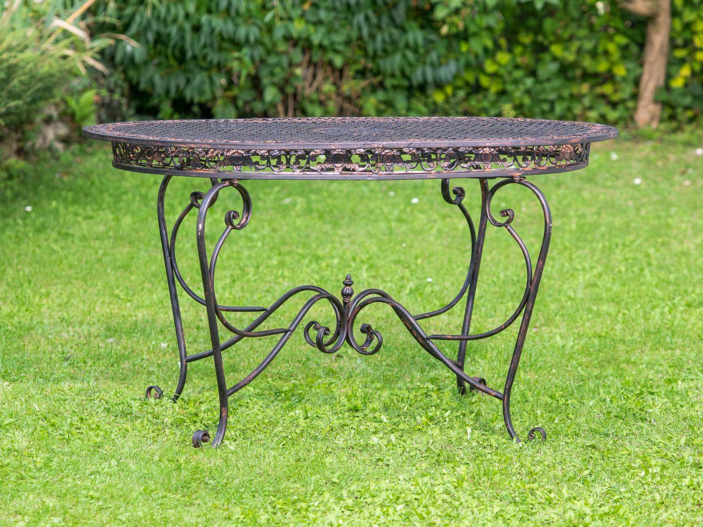 Set de table de jardin 4 chaises de jardin de fer brun for Set de jardin