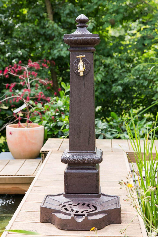 standbrunnen 100cm alu braun brunnen waschbecken garten im antik stil fountain ebay. Black Bedroom Furniture Sets. Home Design Ideas