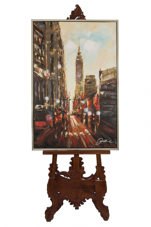 Original Gemälde Stadt Usa New York Öl Leinwand Rahmen Ölgemälde ...