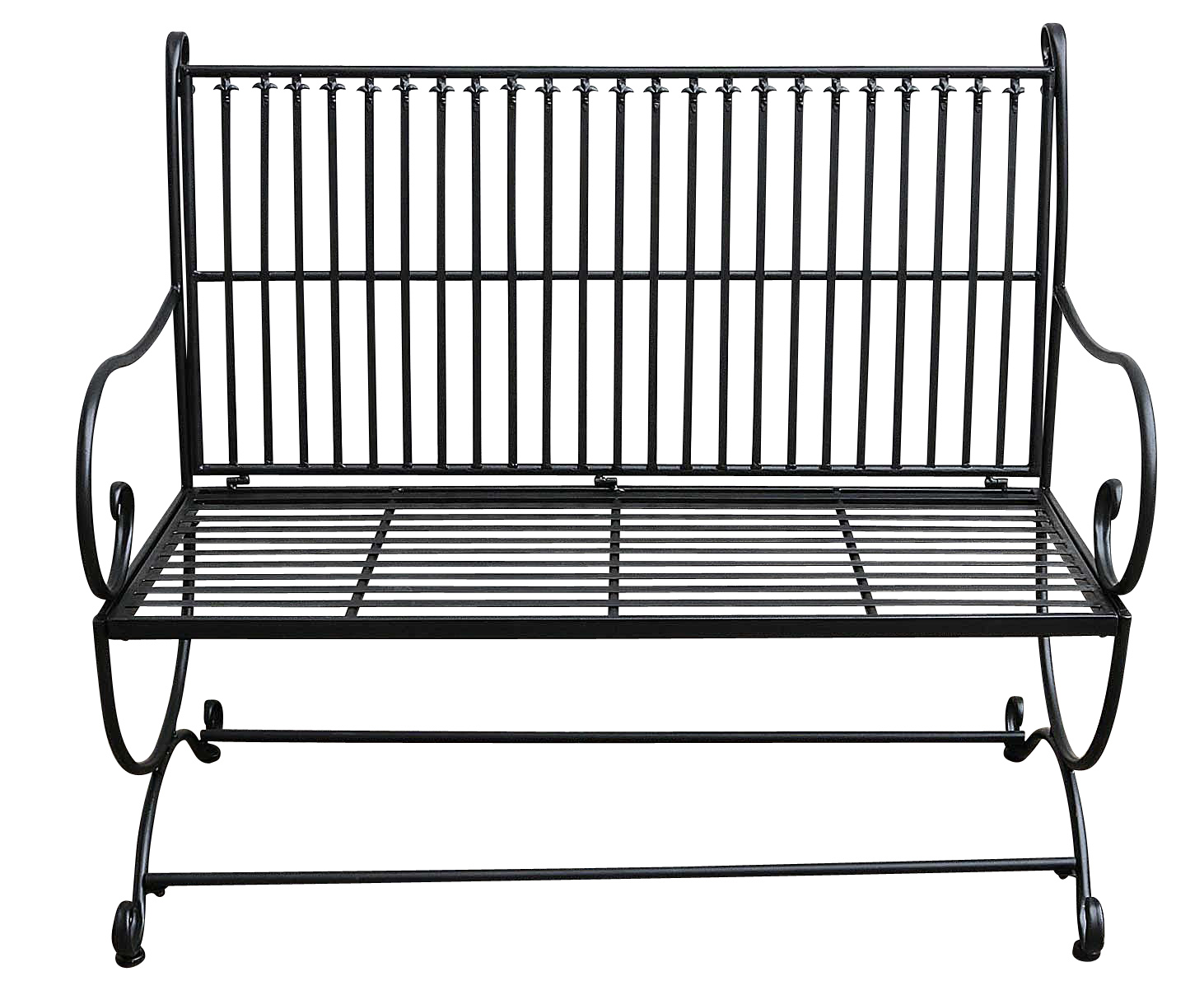Brun banc meubles de jardin en m tal de style antique fer for Meuble de jardin en metal