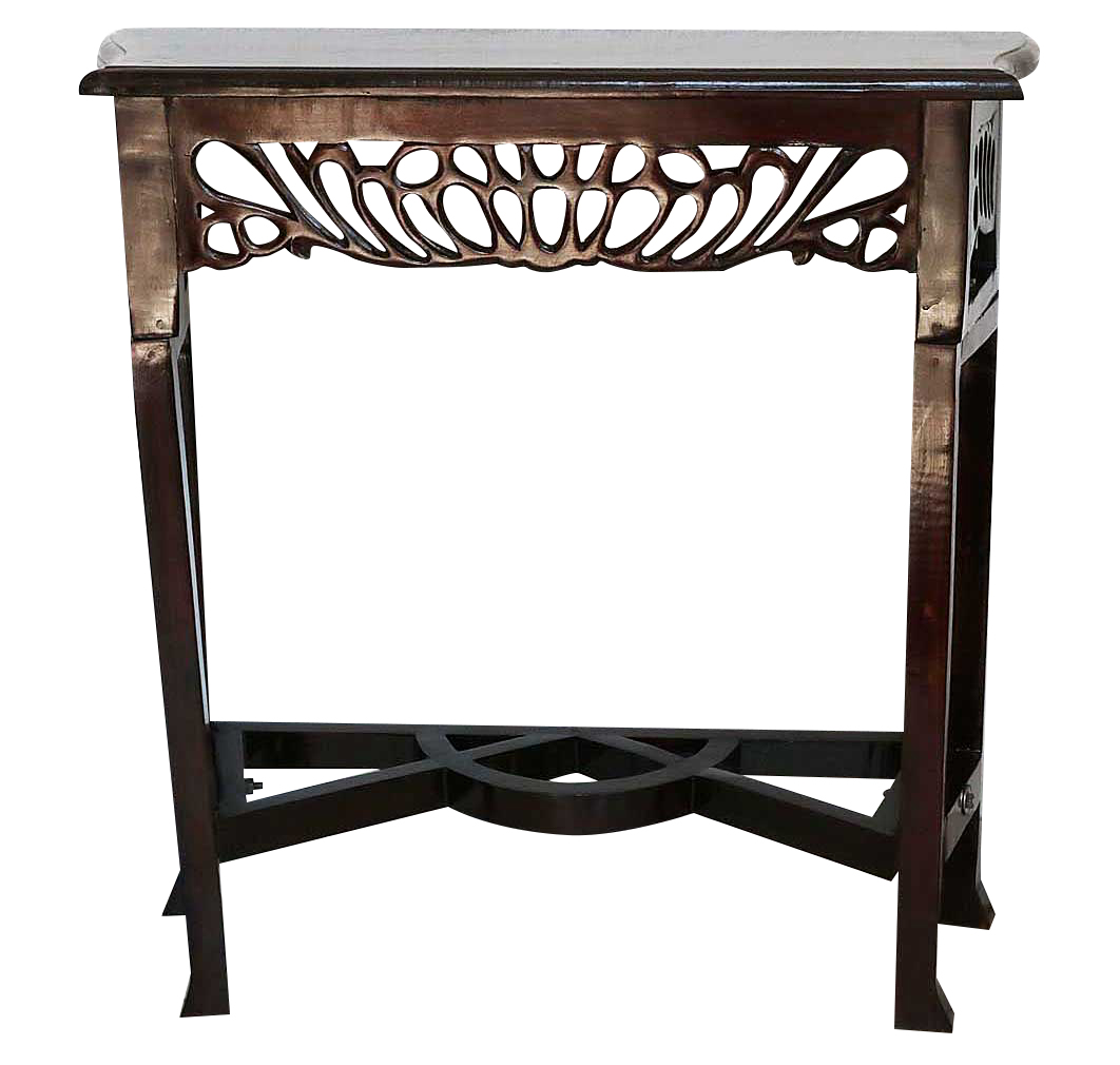 table console 80cm shelf side table cabinet wood antique style ebay. Black Bedroom Furniture Sets. Home Design Ideas