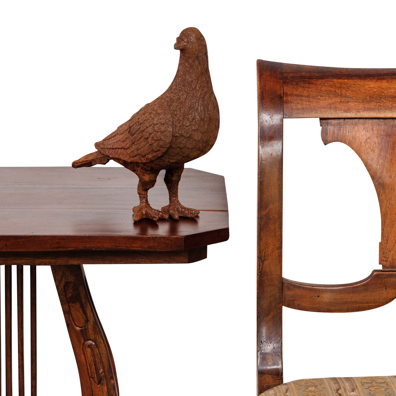Sculpture Statue Jardin Figure Oiseau Rouille Fer Style