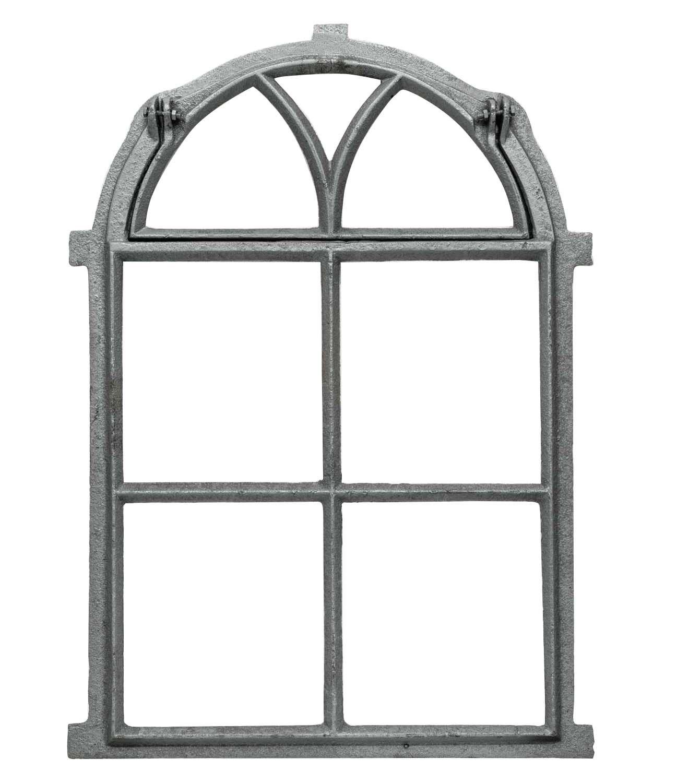 Stallfenster Fenster zum Öffnen Scheunenfenster Eisen grau 39 x 59cm Antik-Stil