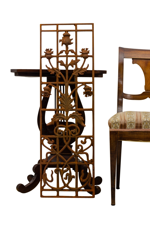 Art et antiquités Architecture et matériaux antiques Balustrade clôture balcon rouille style antique fer rampe d'escalier