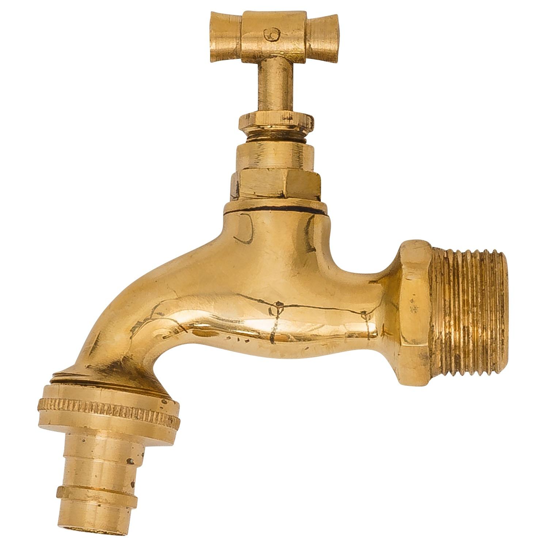 Wasserhahn Auslaufventil Messing 3//4 Zoll antik Stil Garten Brunnen faucet
