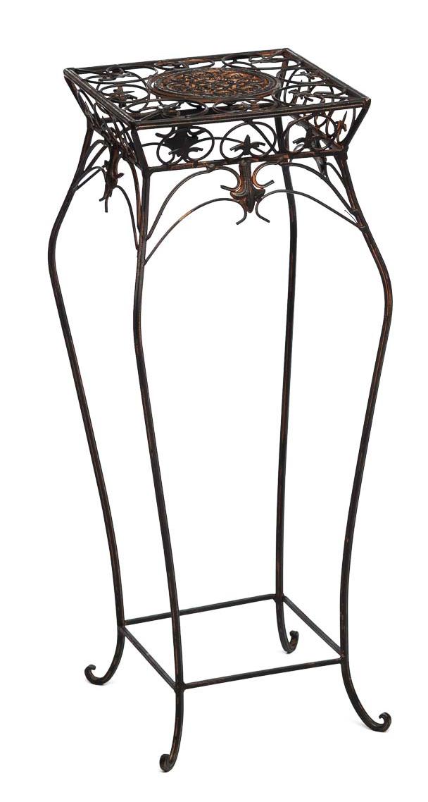blumenhocker 71cm blumentisch blumenst nder garten braun. Black Bedroom Furniture Sets. Home Design Ideas