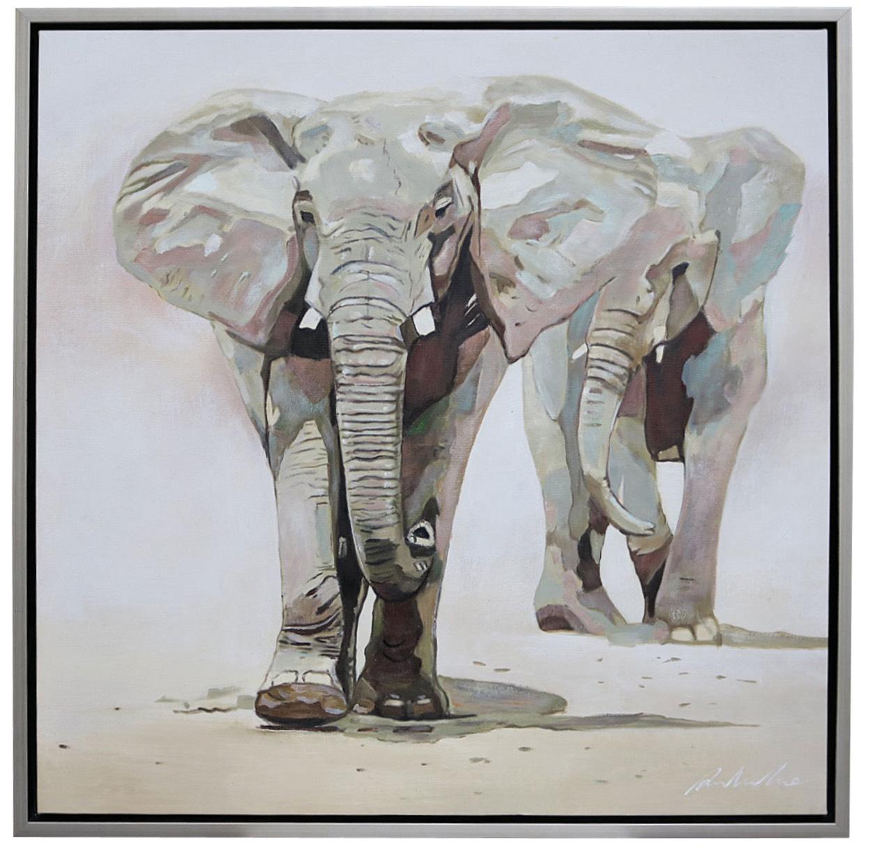original lgem lde elefant afrika gem lde mit massivem. Black Bedroom Furniture Sets. Home Design Ideas