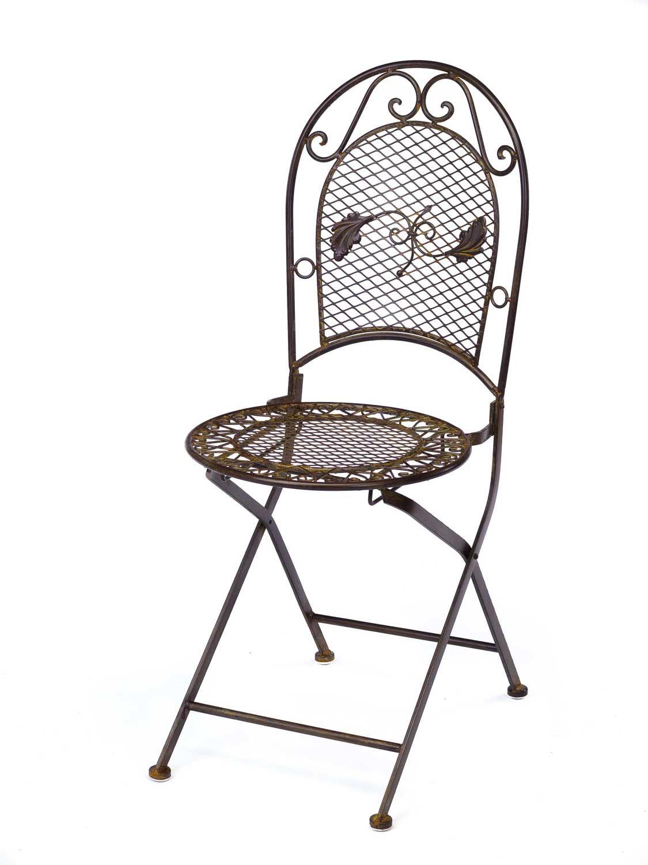 Mesa de jard n juego de muebles y 2 sillas de hierro 100cm for Juego de mesa y sillas de jardin
