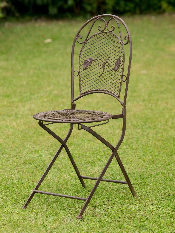 Mesa de jard n juego de muebles y 2 sillas de hierro 100cm for Mesa y sillones para jardin