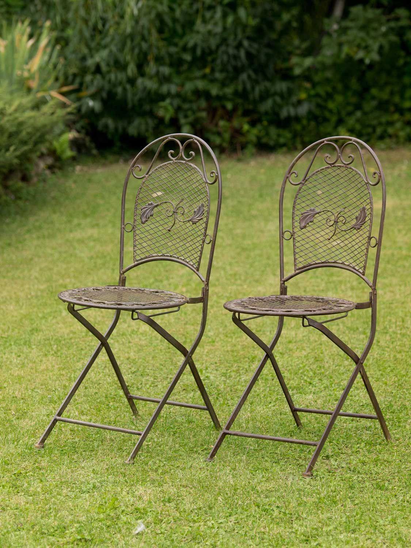 salon de jardin 1 table et 2 chaises fer style antique marron ebay. Black Bedroom Furniture Sets. Home Design Ideas