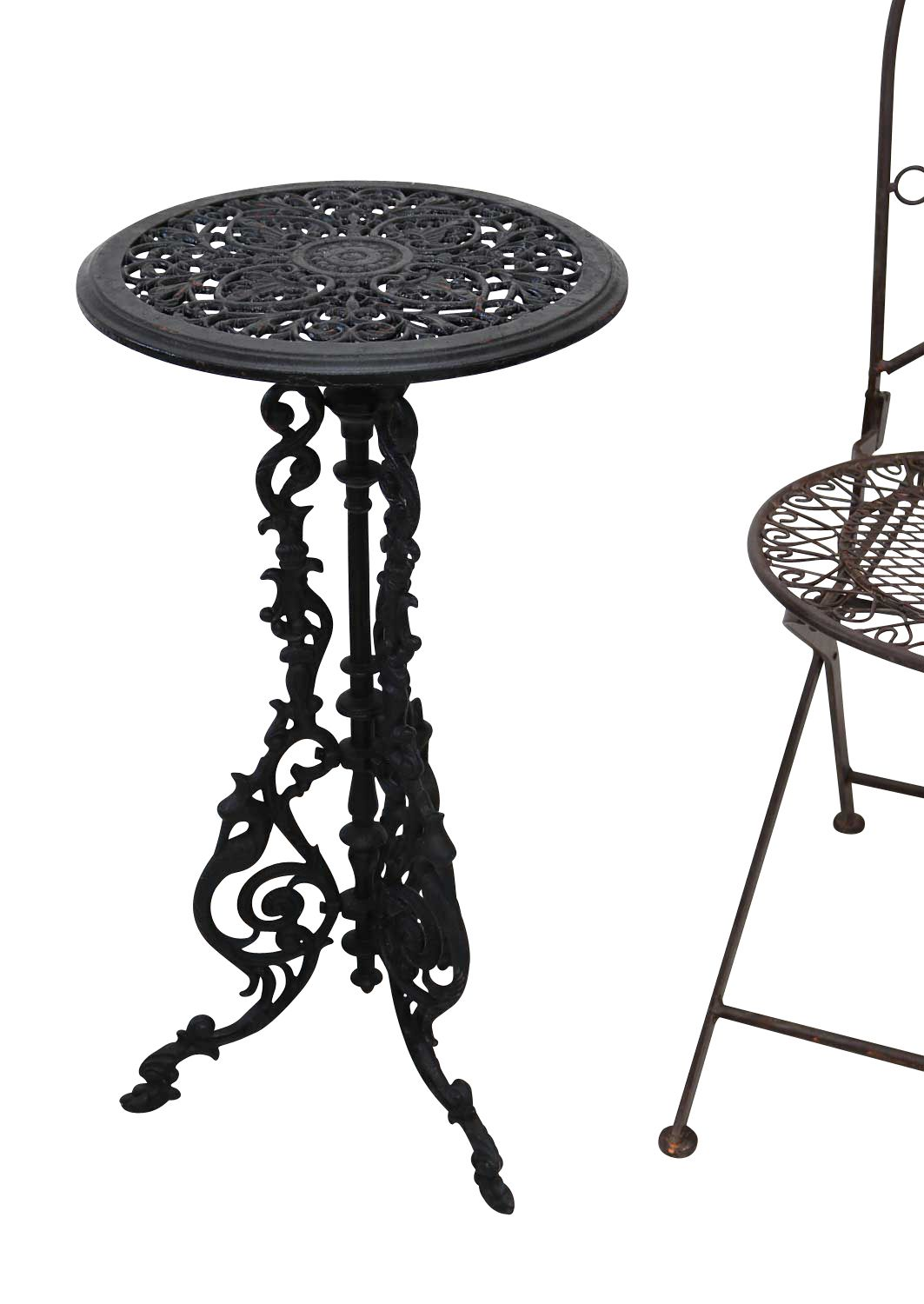 Garden table 10kg cast iron 72cm side table iron antique for Cast iron end table