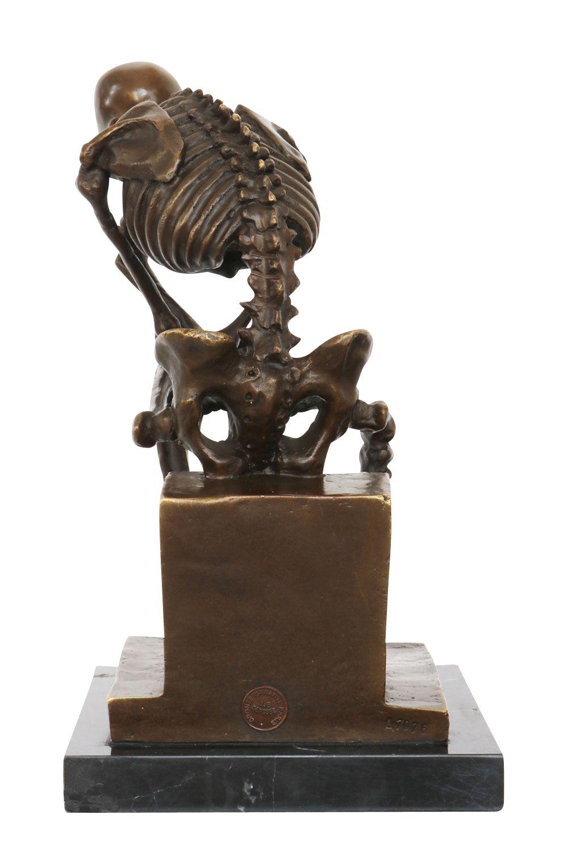 statuette de squelette assis style antique bronze ebay. Black Bedroom Furniture Sets. Home Design Ideas