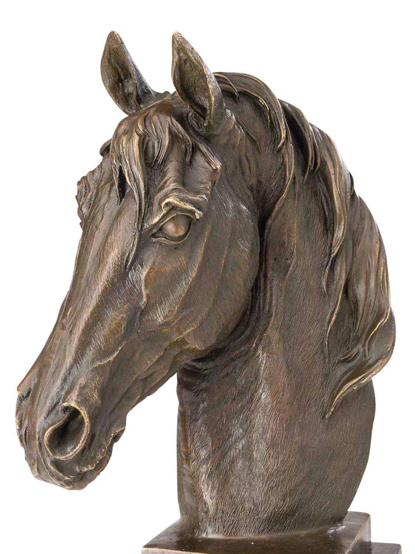 statuette en bronze sculpture t te de cheval style antique 44 cm ebay. Black Bedroom Furniture Sets. Home Design Ideas