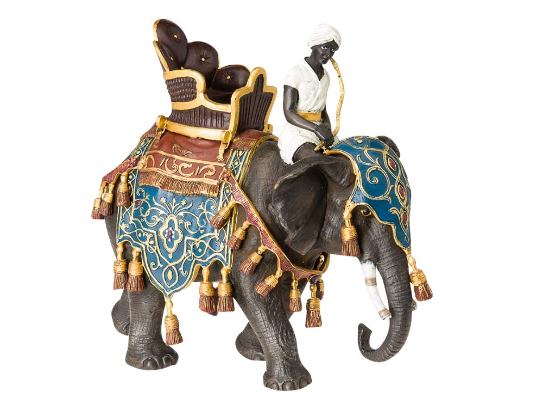 Bronzeskulptur Elefant mit Reiter Indien Skulptur Bronze Antik-Stil ...