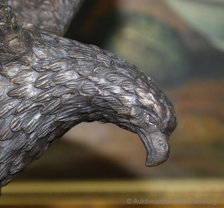 statuette d aigle en bronze socle en marbre 39 cm 3 kg ebay. Black Bedroom Furniture Sets. Home Design Ideas