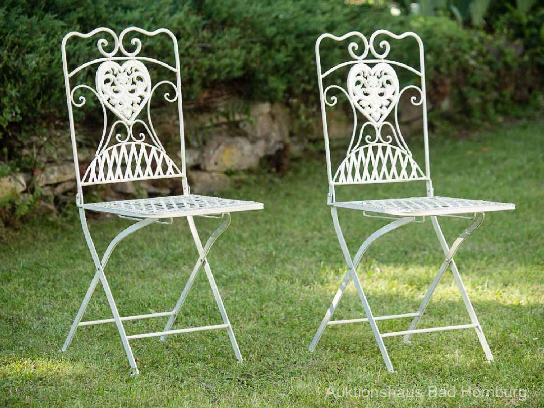 Tavolo da giardino e 4 sedie tavolo in ferro bistrot in for Sedie giardino ferro