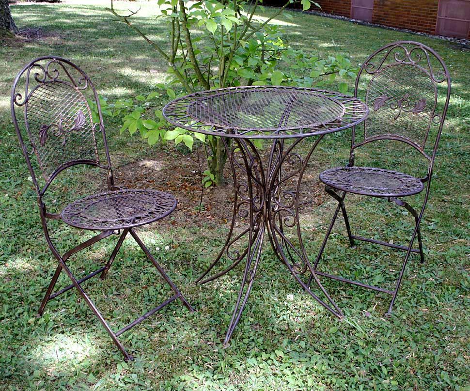 Tavolo da giardino 2x sedia di ferro in stile mobili for Mobili da giardino in ferro antichi
