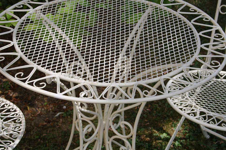 Set tavolo da giardino e 2 sedie mobili da giardino in ferro in stile antico ebay - Mobili da giardino in ferro ...