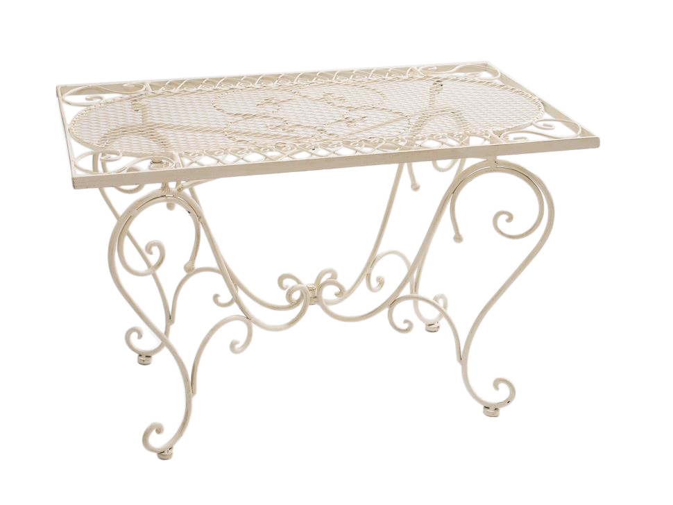 Détails sur Table de jardin en fer forgé nostalgia 12 kg table de salon  style antique fer