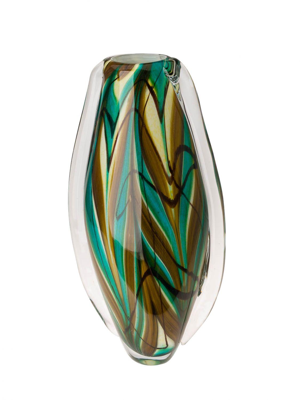 Glasvase glas vase im italien murano antik stil h he 41cm for Gartendekoration glas