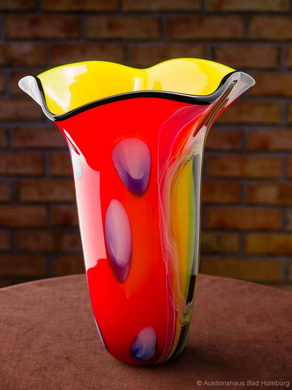 vase style ancien verre de style murano 32 cm 3 5 kg ebay. Black Bedroom Furniture Sets. Home Design Ideas