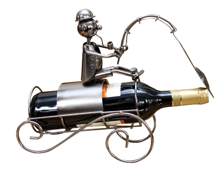 Wein Behälter Weinhalter Weinständer Flaschenhalter Metall Angler ...