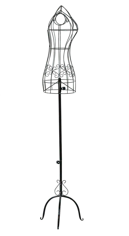 schneiderpuppe schaufensterpuppe antik stil 160cm mannequin metall schwarz ebay. Black Bedroom Furniture Sets. Home Design Ideas