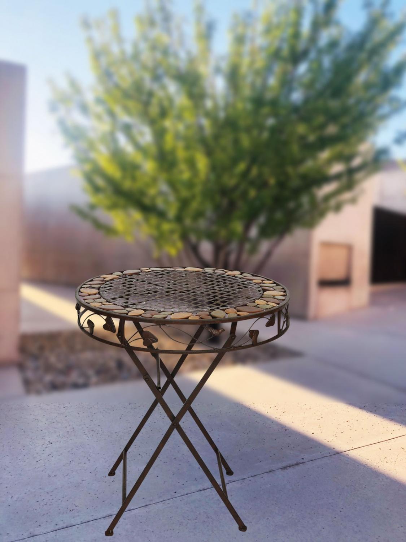 Ferro tavolo da giardino in ferro battuto in stile antico for Mobili di giardino